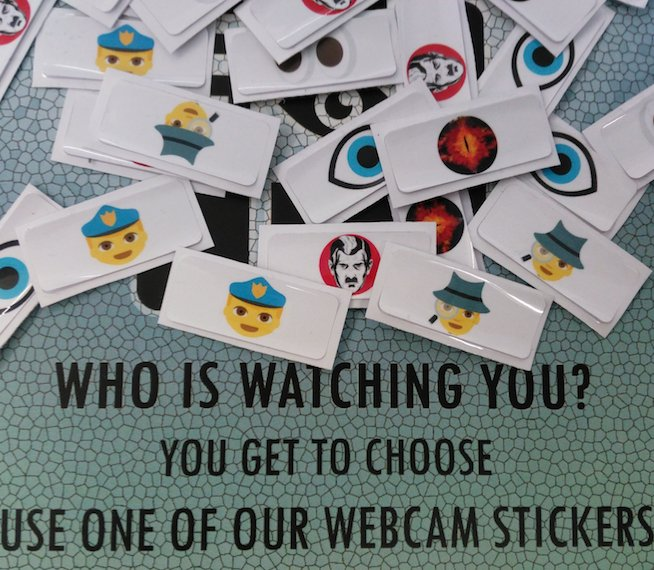 Webcam stickers